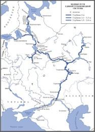 Водная схема европейской части россии